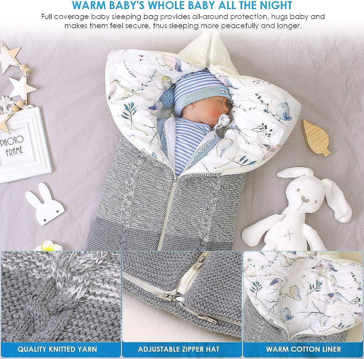 Petyoung Neugeborenes Baby Kinderwagen Schlafsack Wickeldecke Multifunktions-Kinderwagen Wrap Schlafmatte Dicken Warmen Schlafsack f/ür Jungen M/ädchen 0-12 Monate
