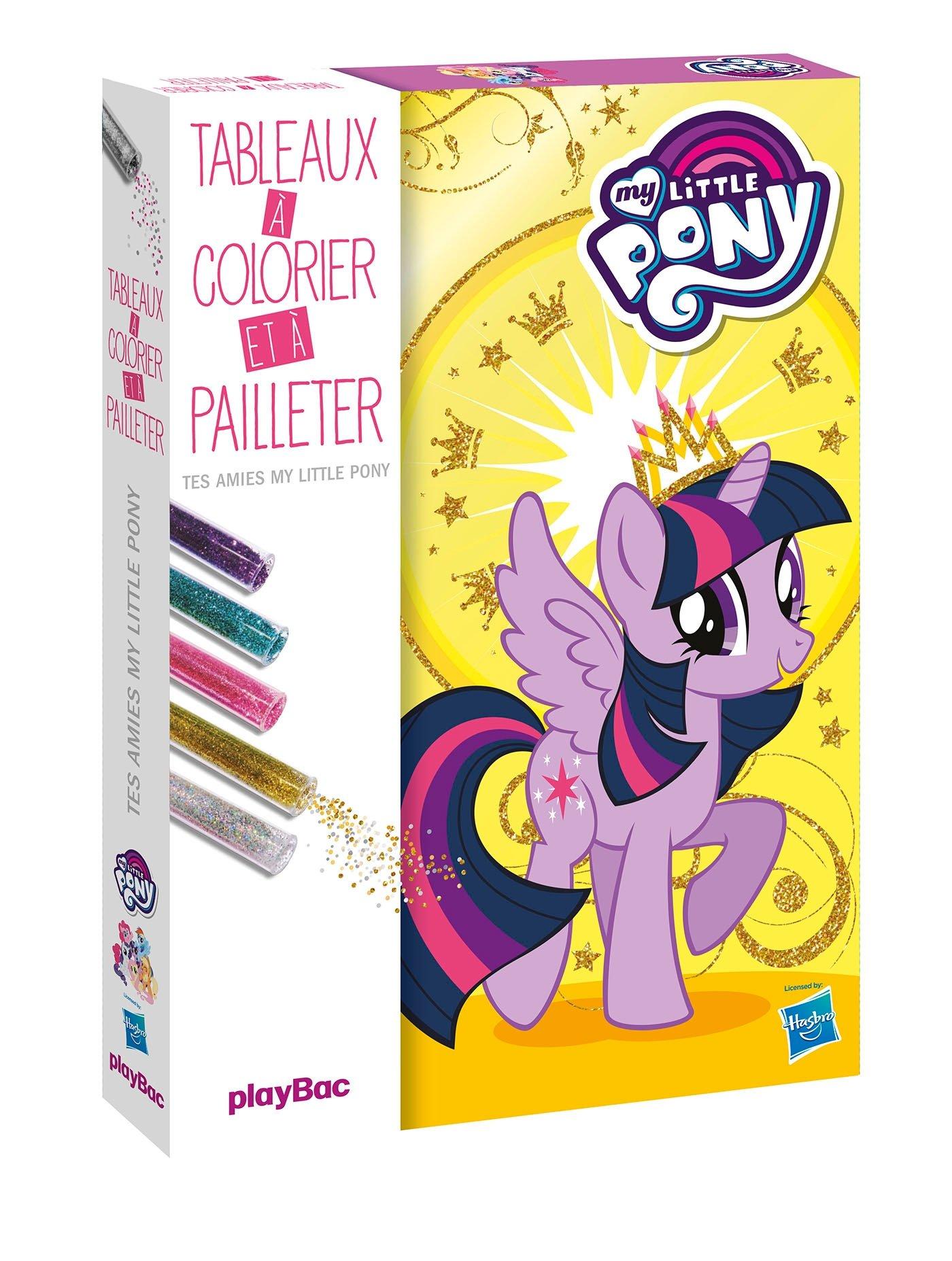 My Little Pony Mes Tableaux A Colorier Et A Pailleter Amazon Fr Play Bac Livres