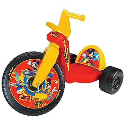 Kids Only Mickey Mouse 16 inch Big Wheel Racer: Sports & Outdoors