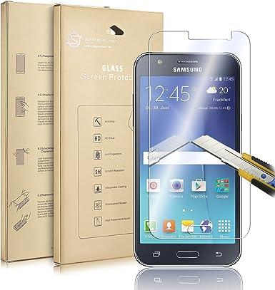 Supremery Samsung Galaxy J5 Smartphone Schutzfolie Display Schutzglas [9H,Round Edge] Displayschutzfolie Glas Folie für Samsung Galaxy J5: Amazon.es: Electrónica