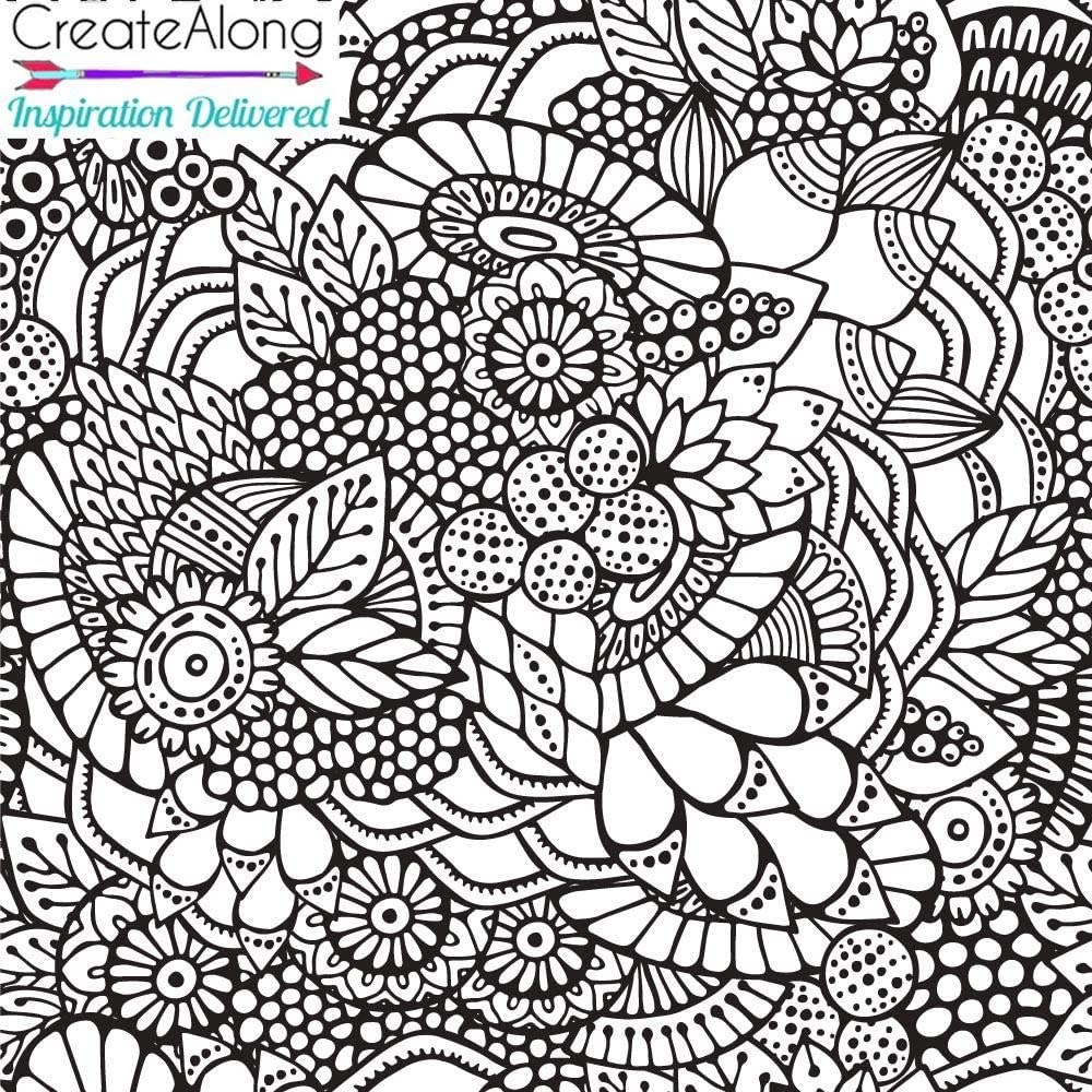 Silkscreen Floral Extravaganza Stencil for Polymer Clay Art Jewelry and Mixed Media