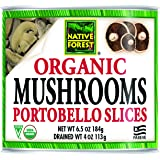 Native Forest Organic Sliced Portobello Mushrooms, 6.5 Ounce (Pack of 12)