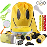 RIZUIEI Gift Toys for 3-10 Years Old Boys Girls,Adventure Outdoor Explorer Kit for Kids Fun Toys Educational Toys for kids Birthday Present Kids Binoculars Set for Camping Hiking Pretend Play