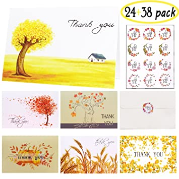 Thank You Cards Multipack 24 Count 6 Designs Greeting
