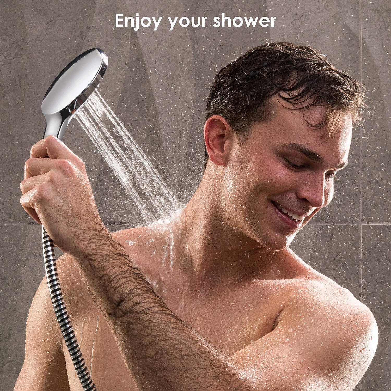 Brausethermostat mit Temperatur- und Durchflusseinstellung Chrom 38 /°C Sicherheitssperre Amzdeal Duschthermostat Duscharmatur 20-50 ℃ Thermostat Mischbatterie f/ür Brause aus 59 Messing