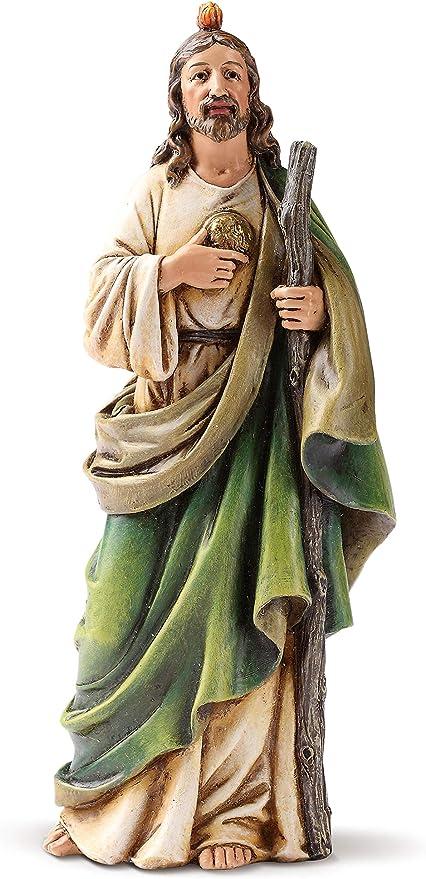 Statue St Jude Thaddeus 4 inch Painted Resin Figurine Patron Saint Catholic Box