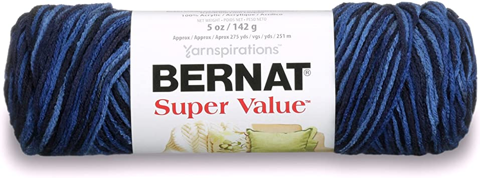 Bernat Super Value Ombre Yarn-Fresh Lilac