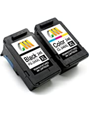CMCMCM Remanufactured Ink Cartridge Replacement for Canon PG-245XL 245 XL CL-246XL 246 XL Work with Pixma iP2820 MG2420 MG2520 MG2522 MG2920 MG2922 MG2924 MG3022 MX490 MX492 (1 Black,1 Tri-Color)