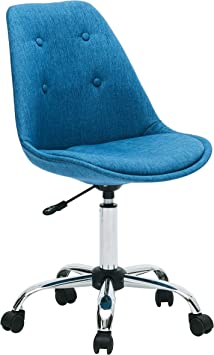 Amazon Com Porthos Home Caster Wheels Height Adjustable Chrome Metal Base For Leisure Seating Or A Casual Gaming Office Chairs Size 32 36x19x22 Inch Choice Of Colors One Blue Furniture Decor
