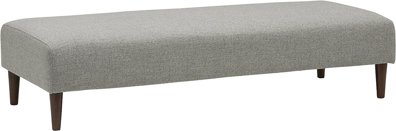 Amazon Brand – Rivet Ava Mid-Century Modern Upholstered Ottoman Bench, 63.4