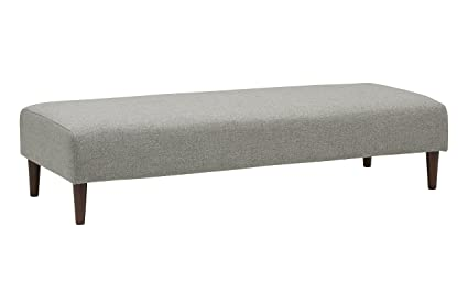 separation shoes 66156 5e72b Rivet Ava Mid-Century Modern Upholstered Long Ottoman Bench, 63.4