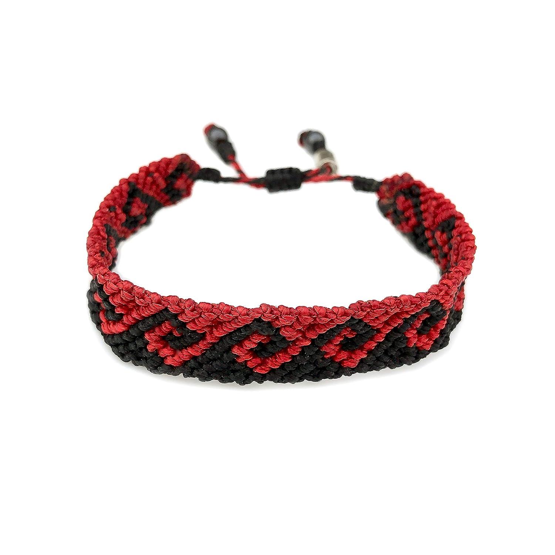 Wave hand knotted macram\u00e9 bracelet