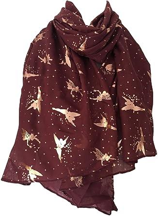 Purple Possum UK - Echarpe - Femme rouge Burgundy, Gold, Rose Gold, Red 05655f7166a