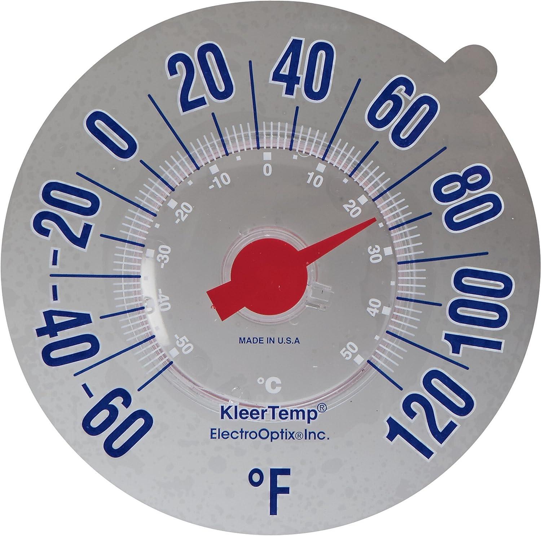 K/ühlschrankthermometer Drahtlose Digitalanzeige Gefriertemperaturmonitor K/ühlschrankthermometer mit 2-teiligem Sensor und Min//Max-Alarm