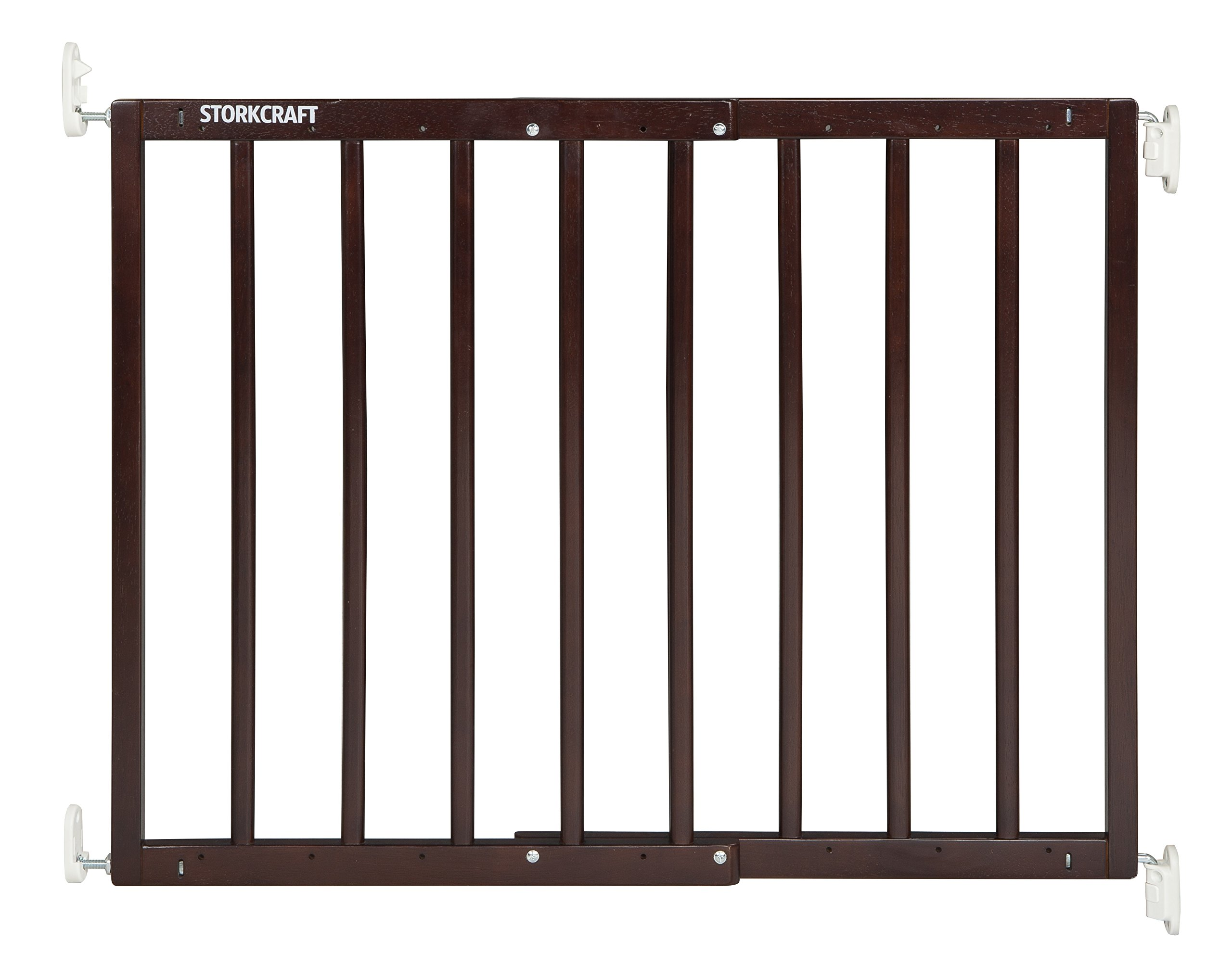 Storkcraft Easy Walk-Thru Wooden Safety Gate, Espresso Adjustable Baby Safety Gate For Doorways and Stairs, Great for Children and Pets by Stork Craft (Image #8)