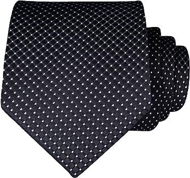 New Brand Q Men/'s Poly Skinny Necktie /& Hankie Silver Polka Dots formal wedding