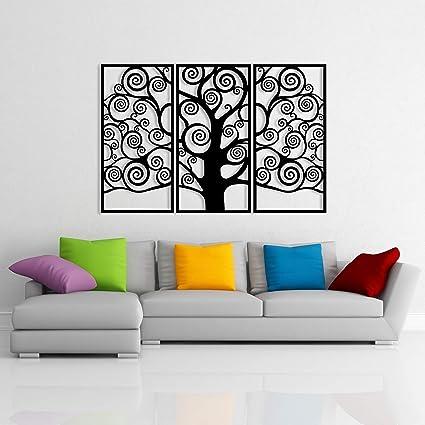 Large 3 Pieces Tree Of Life Metal Tree Wall Decor Metal Family Tree Wall Art Decor