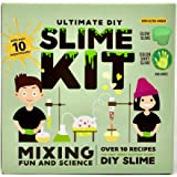 Ultimate DIY Slime Kit - Make Glow-In-The Dark, Colour Changing, Clear and Glitter Slime - Over 10 Recipes & Experiments, Fun & Educational Gift Idea
