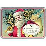Cavallini Glitter Gift Tags Christmas Cheer, 36 Assorted Gift Tags