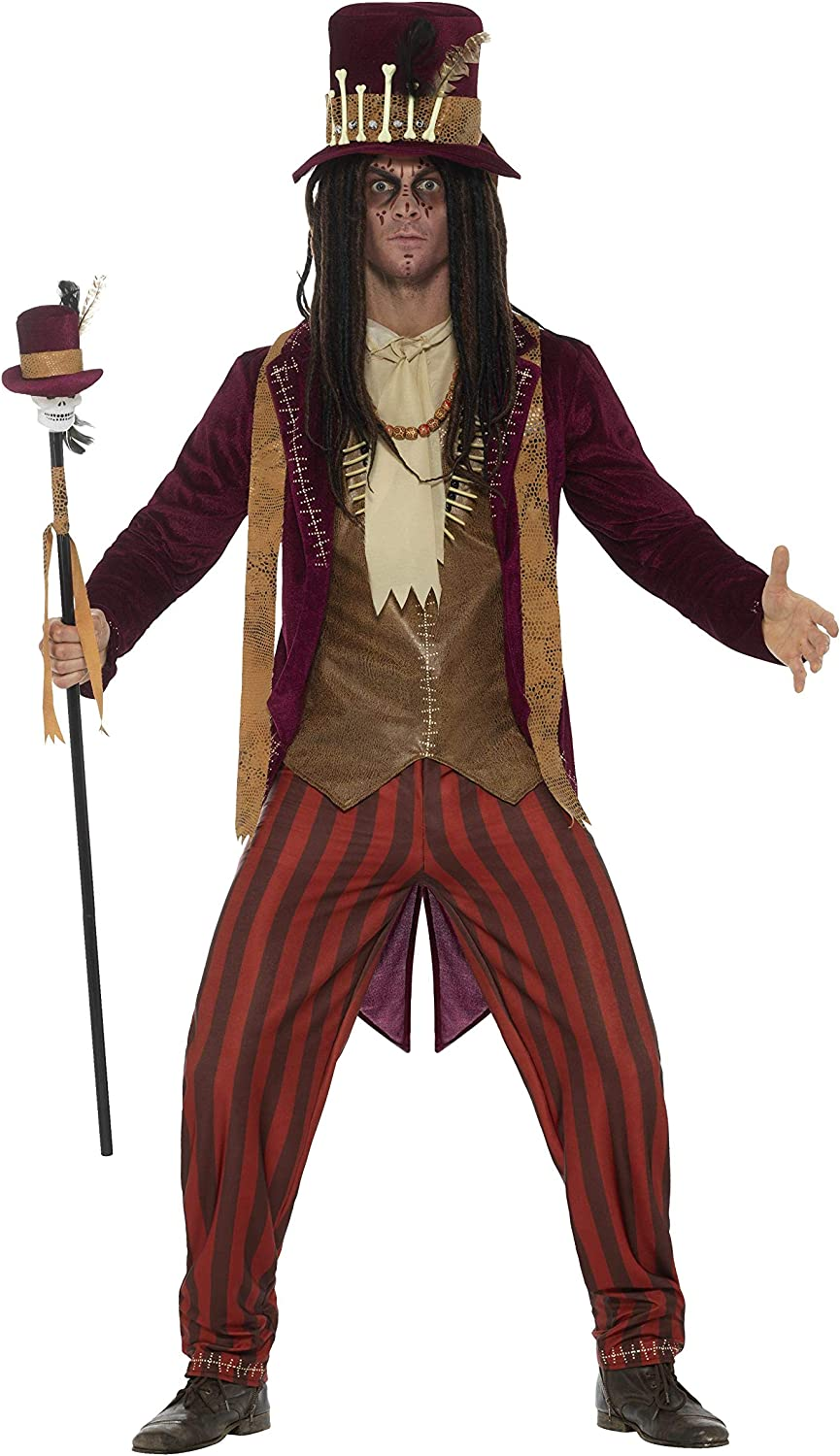 Amazon Com Smiffys Men S Deluxe Voodoo Witch Doctor Costume Clothing