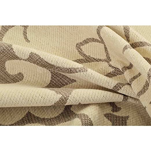 Yorkshire Fabric Shop Exclusiva tela color beige diseño ...