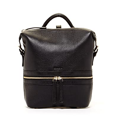 Amazon.com: SUSU Black Leather Backpack Purse Unique Style Handbag ...