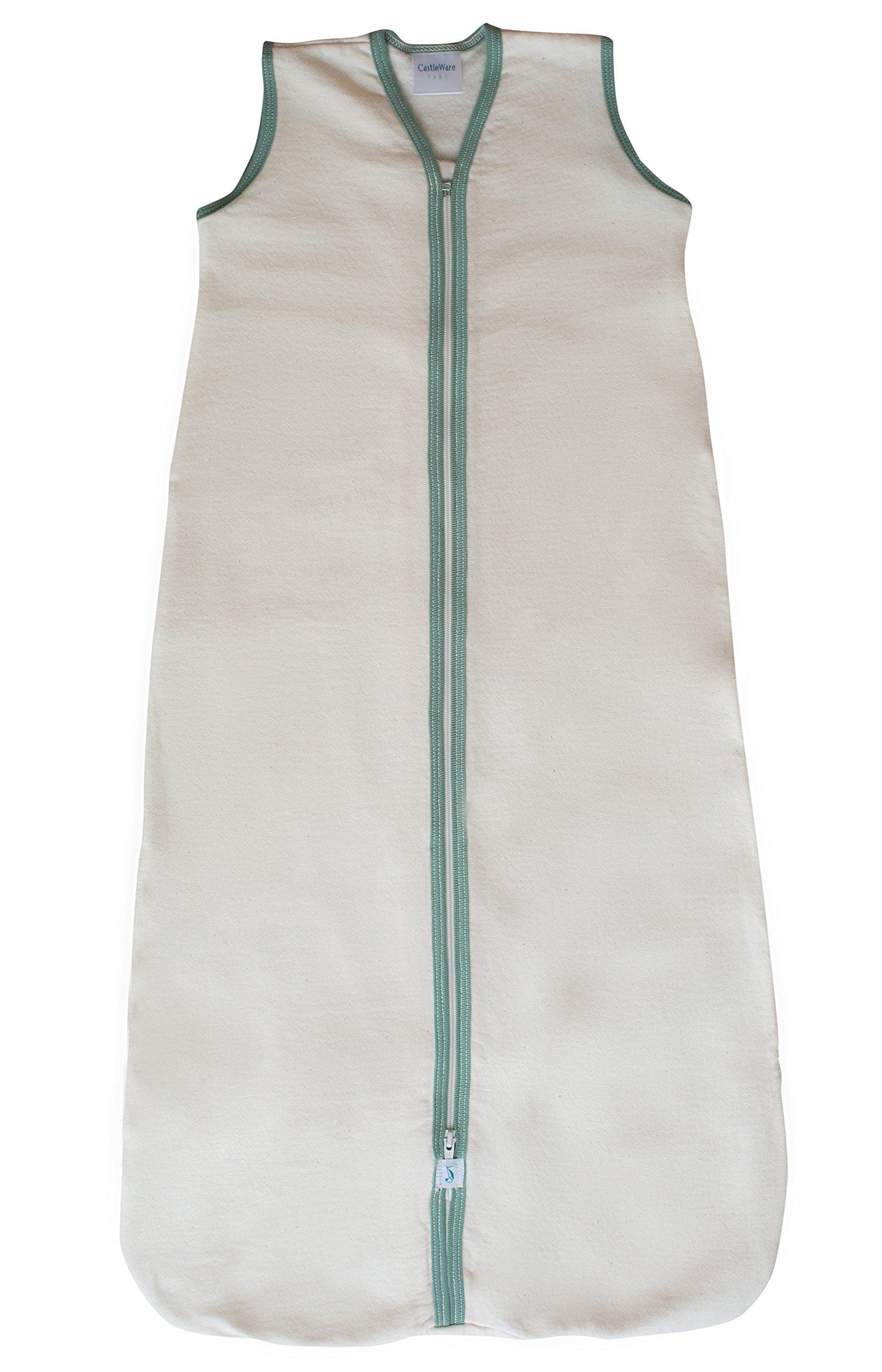 CastleWare Baby Sleeveless Fleece Sleeper Bag (LRG 12-18 Months, Moss Green)