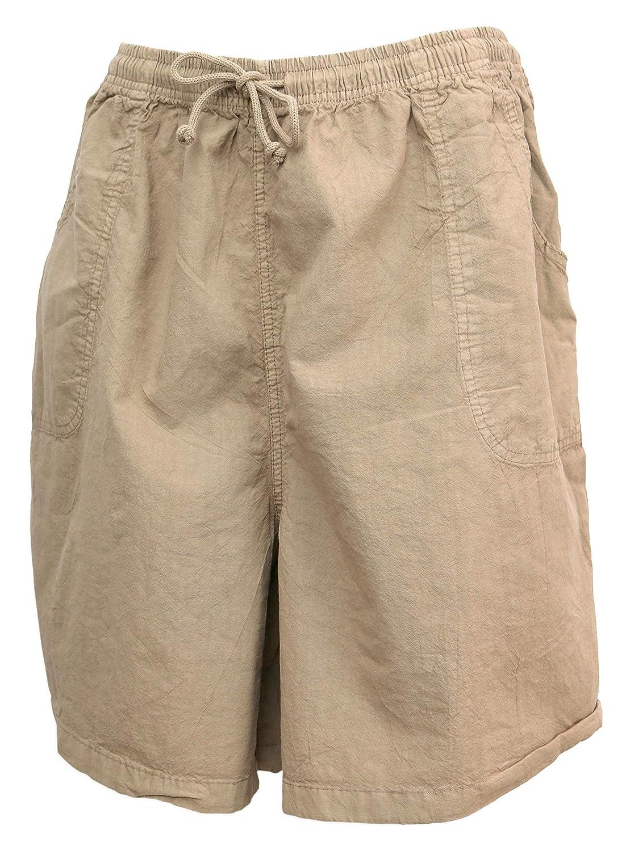Salem Straits Womens Plus Size 100/% Cotton Sheeting Cargo Shorts