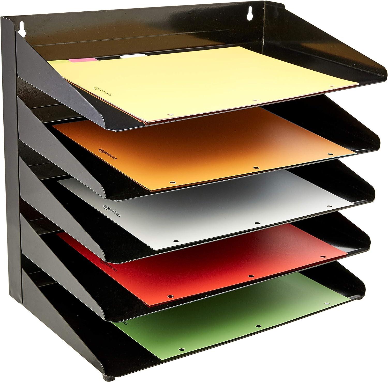 5 Etagen Metall 38 x 23 x 33 cm Basics Dokumentenablage