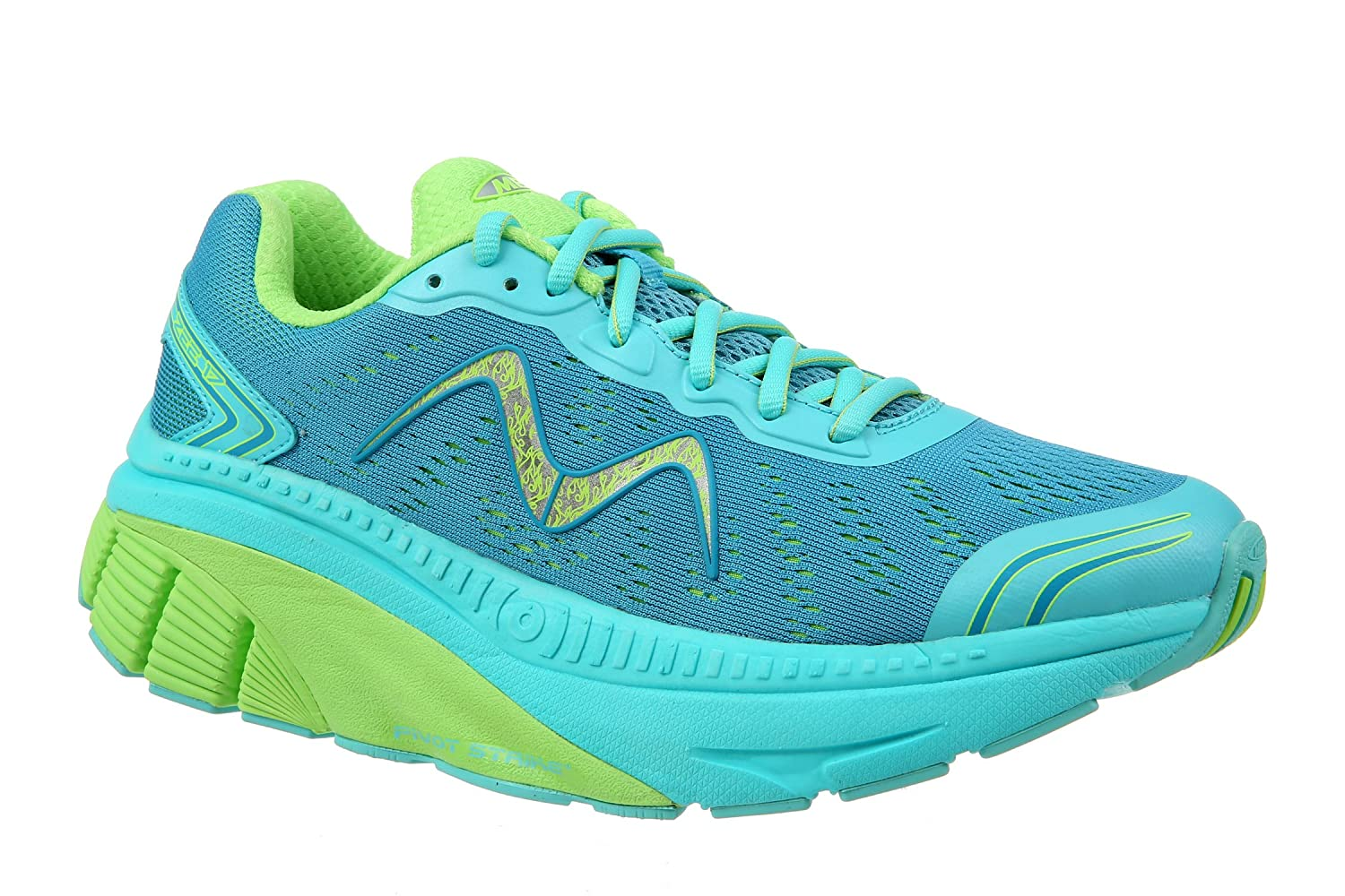 MBT Women's Zee 17 W Sneaker B01MZD27NG 11 Medium (B) US Woman|Teal/Green