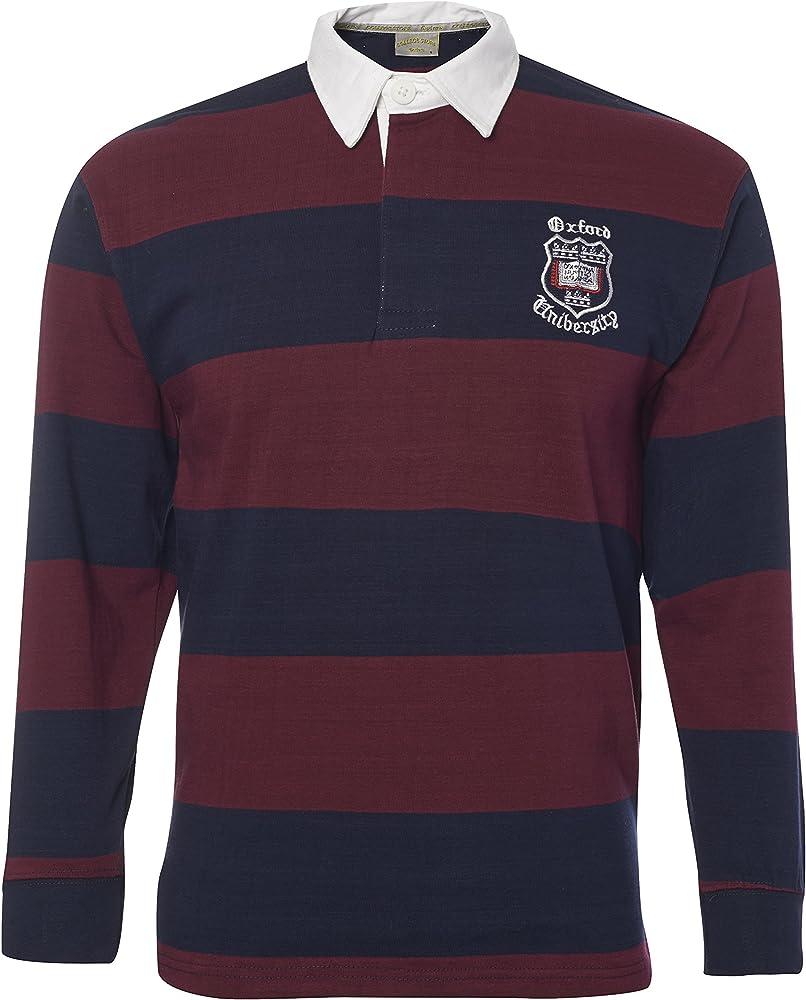 Con licencia oficial de - Oxford University camiseta de Rugby - azul marino/color granate: Amazon.es: Ropa y accesorios