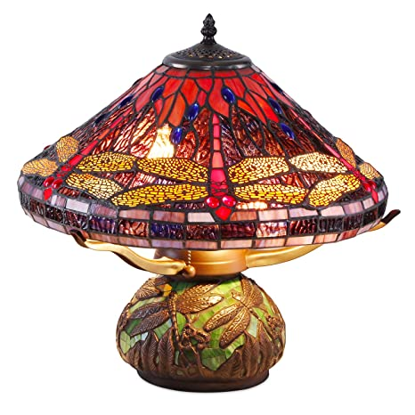 Tiffany Style Dragonfly Mosaic Table Lamp