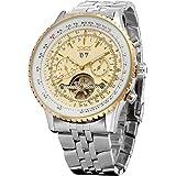 Forsining Men's Automatic Tourbillon Complete Calendar Wrist Watch JAG034M4T1