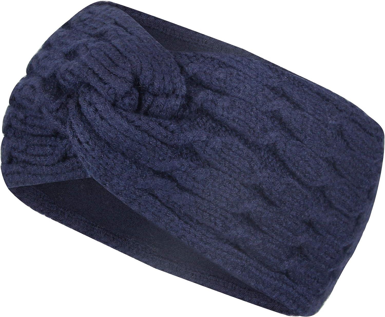 Ohrensch/ützer M/ädchen mit weichem Fleece Innenfutter Frentree Stirnband Damen Strick Haarband im Twist Knoten Schleife Design