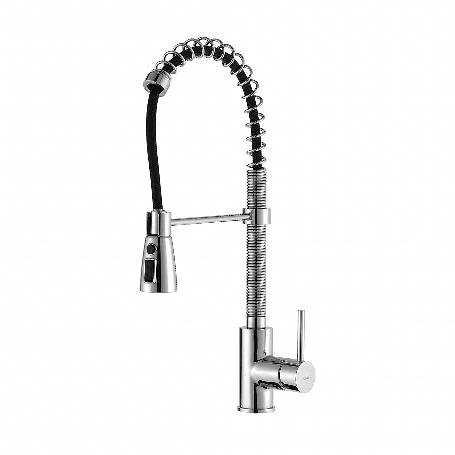 Beautiful Kraus KPF 1612 Single Lever Pull Down Kitchen Faucet Chrome   Touch On  Kitchen Sink Faucets   Amazon.com