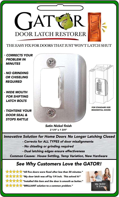 GATOR Door Latch Restorer - Strike Plate (Satin Nickel) - - Amazon.com