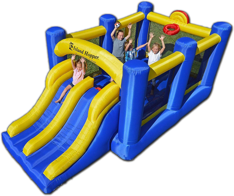 Racing Slide and Slam Recreational Bounce water House