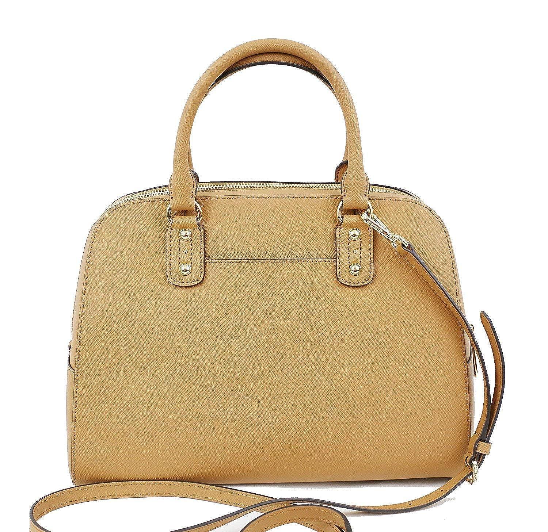 a8f12eda3b62 Amazon.com: Michael Kors Saffiano Leather Large Satchel Handbag (Acorn):  Shoes