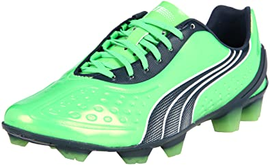 competitive price 2e861 d60ef Puma Men s V1.11 Sl Soccer Cleat,Fluorescent Green Midnight Navy White