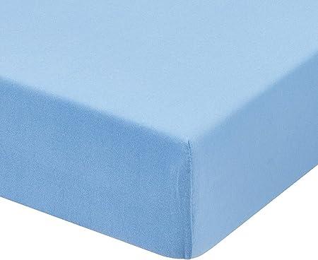 AZUL 150) Sabana bajera ajustable, elastica 100% algodón de verano ...