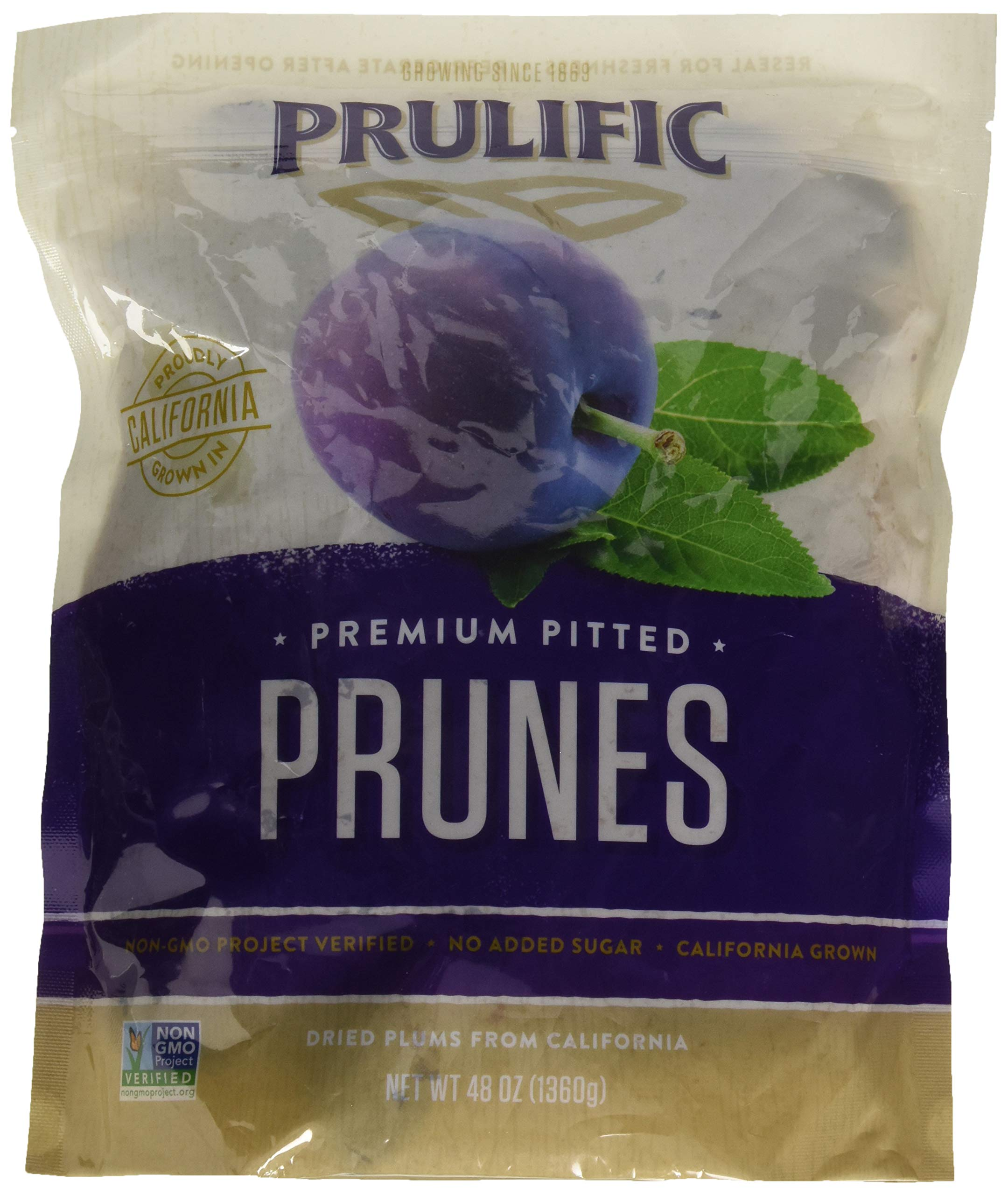 Prulific Premium Pitted Prunes, 48oz - 3 Pack