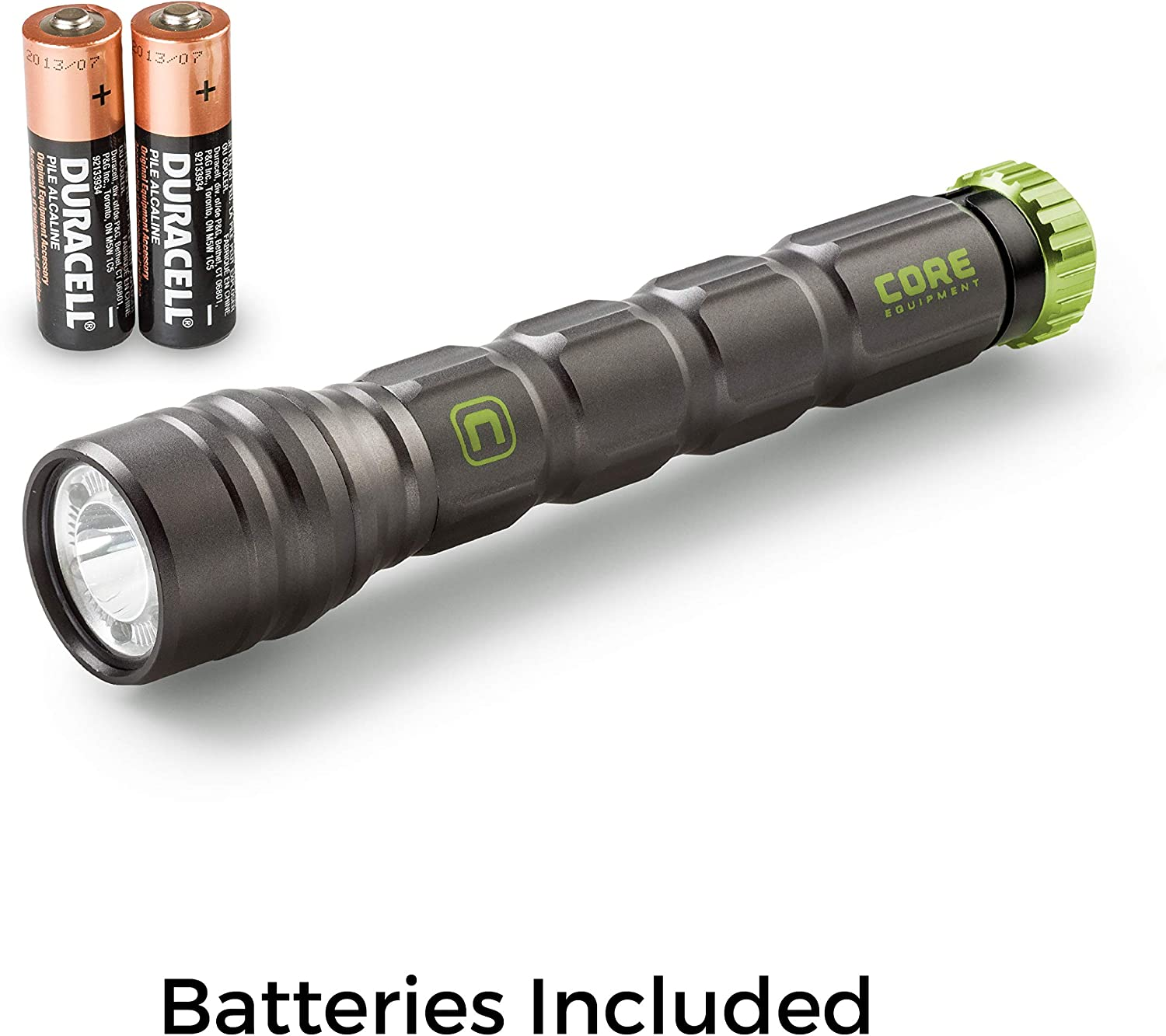 CORE CREE LED Flashlight, Multiple Modes, Aluminum, Batteries Included