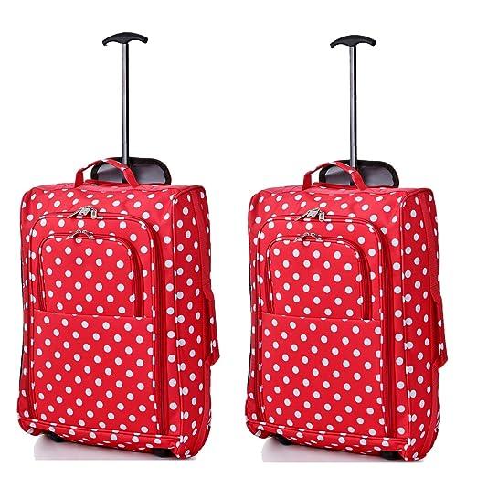 202 opinioni per Set di 2 bagaglio a mano trolley a due ruote leggero per Ryanair / Easyjet
