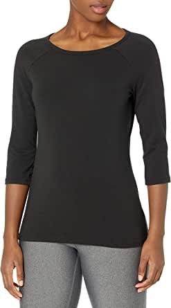Hanes Women's Stretch Cotton Raglan Sleeve Tee