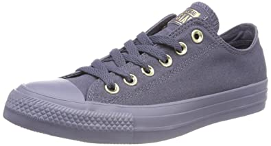 Unisex Adults CTAS Ox Trainers, Wolf Grey/Wolf Grey/Blue Chill Converse