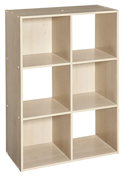 ClosetMaid (4176) Cubeicals Organizer, 6 Cube   Birch