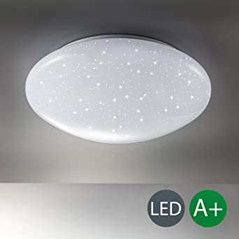 LED Deckenlampe inkl. 12W 1200lm LED Platine, Sternenlicht ...