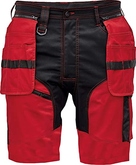 Imagen deKeilor Pantalones Cortos de Trabajo de Algodón Elástico para Hombre para Verano con Bolsillos Cargo