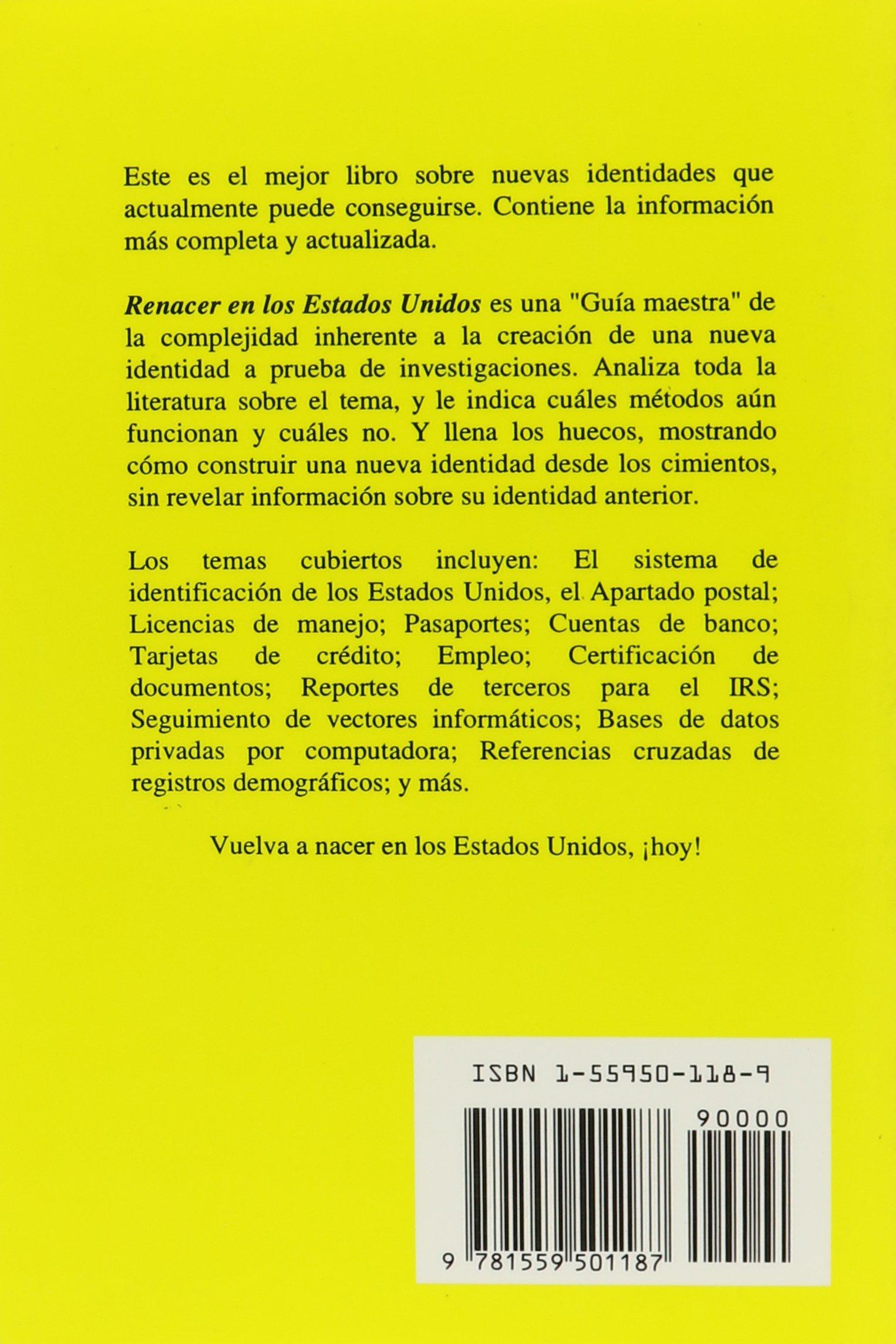 Renacer En Estados Unidos: Guia Completa Para Obtener Una Identidad Estadounidense: Trent Sands: 9781559501187: Amazon.com: Books