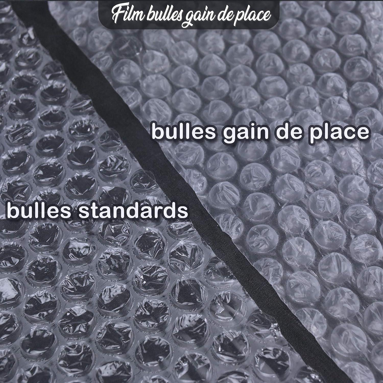 Lot de 20 Rouleaux de film bulle dair 35/µ Gain de Place 25cm x 100 m/ètres
